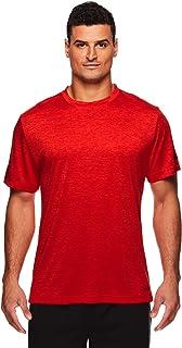 HEAD Men's Ultra Hypertek Crewneck Gym Training & Workout T-Shirt - Short Sleeve Activewear Top - Red - Large