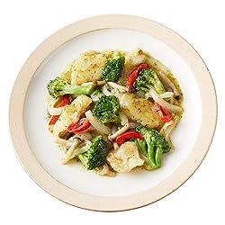 [冷凍] ミールキット 白身魚と野菜のバジルソース炒め 約2人前