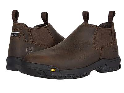Caterpillar Outline Slip-On Steel Toe (Dark Brown) Men