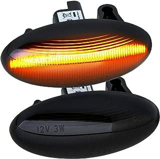 phil trade Intermitente Lateral LED Color Negro, Compatible con Citroen C1 C2 C3 C3 C4 Cactus