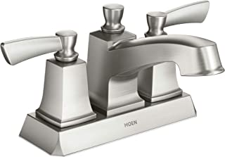 Moen WS84922SRN Conway Two-Handle Centerset Bathroom Faucet with Drain Assembly, Spot Resist Brushed Nickel