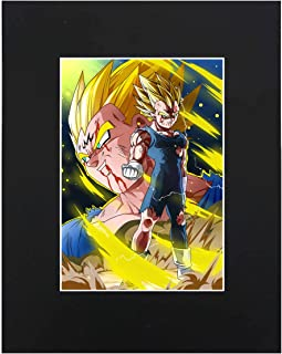 Dragon Ball Super Z Majin Vegeta Japanese media Anime Cartoon Dope 8x10 Black Matted Art Artworks Print Paintings Printed Picture Photograph Poster Gift Wall Decor Display USA Seller