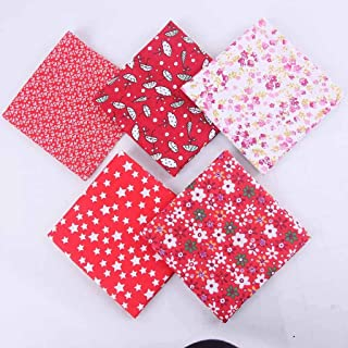 m·kvfa 5pcs DIY Hand Stitched Handkerchief Children`s Cotton Printed Small Floral Pink Handkerchief for Hand-Stitching, Home, Decoration
