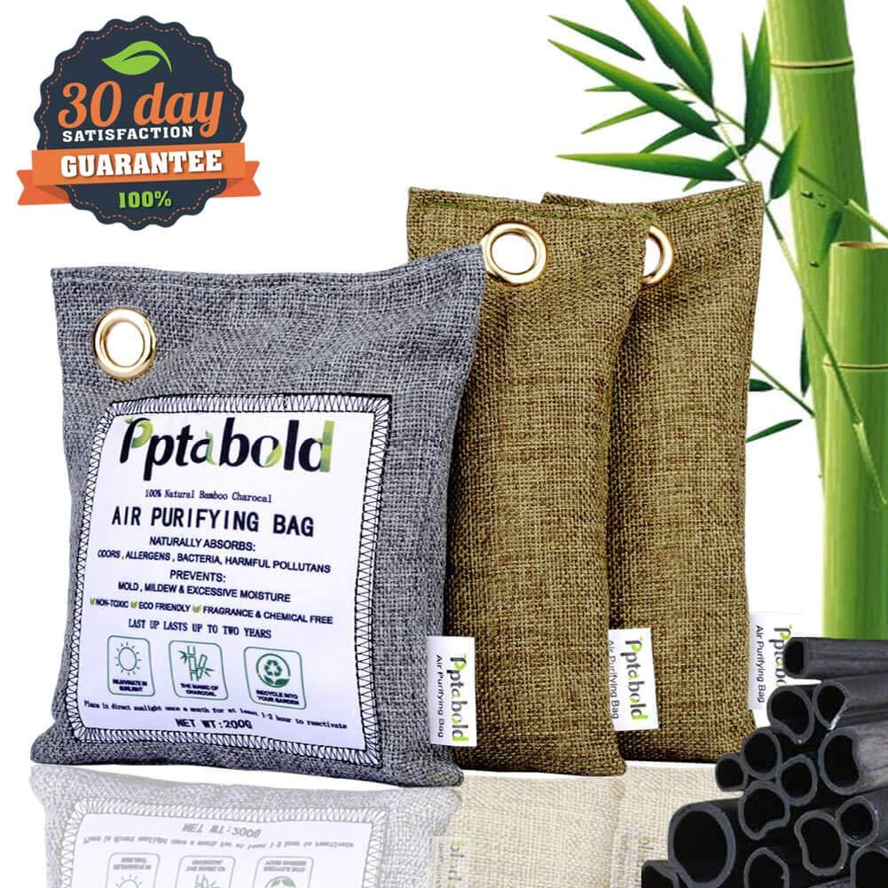 Ambientador Natural y Purificación de Aire 3 Pack,Bambú Activado Carbón Desodorante Bolsa Deshumidificador,Neutralizador de Olores,Desodorante para Eliminar los Olores del Automóvil,Armarios,Zapatos: Amazon.es: Hogar