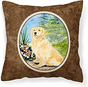 Caroline's Treasures SS8758PW1414 Golden Retriever Decorative Canvas Fabric Pillow, 14Hx14W, Multicolor