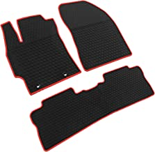 iallauto All Weather Floor Liners Custom Fit Toyota Corolla 2014 2015 2016 2017 2018 Heavy Duty Rubber Car Mats Vehicle Carpet Odorless-Black Red