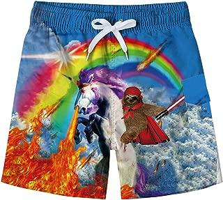 ALOOCA Boys 3D Printed Funny Swim Trunks Casual Quick-Drying Beach Pant Sports Running Swim Surf Board Shorts