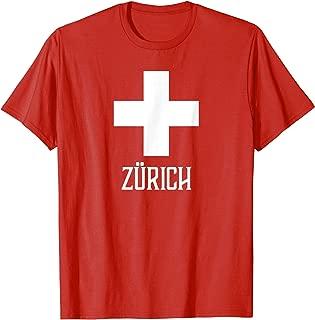 Zurich, Switzerland - Swiss, Suisse Cross T-shirt