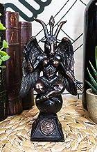 Ebros Gift Church of Satan Sabbatic Goat Idol Baphomet Resin Statue Satanic Occultic Illuminati The Horned God Goat of Men...