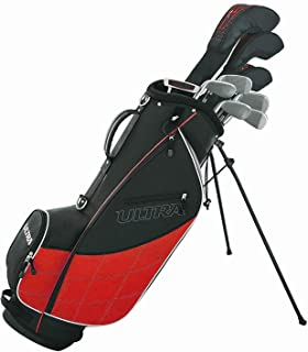 Wilson Golf Ultra Men's 9-Club Set w/Bag and Covers, Black & Red
