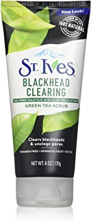 St. Ives Blackhead Clearing Face Scrub Green Tea 6 oz(Pack of 3)