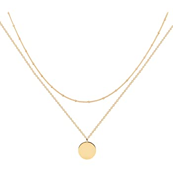 Turandoss Dainty Gold Choker Necklaces for Women 14K Gold Plated Handmade Pearl Cross Star Butterfly Moon Adjustable Simple Choker Necklaces for Women Jewelry