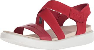 ecco red leather sandals