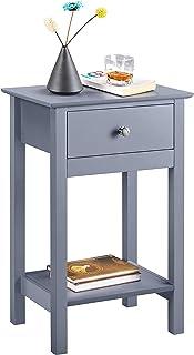 Yaheetech Table de Chevet Table de Nuit Table d'Appoint 40x30x60 cm avec 1 Tiroir et 1 Étagère de Rangement pour Entrée Ch...