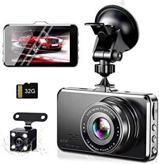 【令和3年モデル】ドライブレコーダー 前後カメラ 1296PフルHD 32GBカード付き Sony 1/2.7型CMOSセンサー 170度広角 夜間撮影 エンジンON/OFF 自動緊急録画 駐車監視 動体検知 リバース連動 上書き録画 G-se...