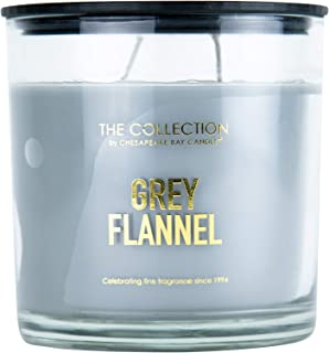 The Collection by Chesapeake Bay Candle | Grey Flannel Scented Candle | 2 Wick Jar Candle with up to 36 Hour Burn Time | M...