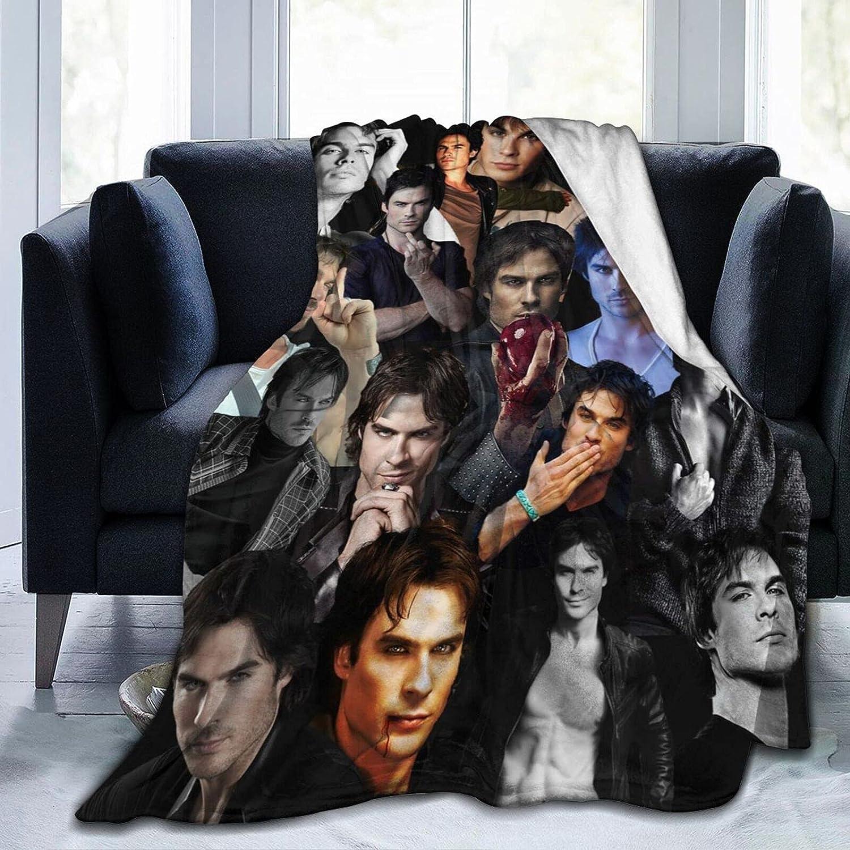 The Vampire Diaries Excellence Damon Salvtore Warm Somerhalder and Ian Washington Mall Soft