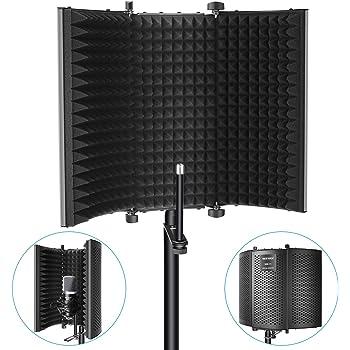 Neewer Professionale Microfono Schermo di Isolamento da Studio Schiuma Assorbente ad Alta Densità Compatibile con Blue Yeti e Qualsiasi Apparecchiatura di Registrazione con Microfono a Condensatore
