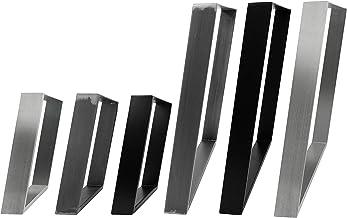 2x Natural Goods Berlin Design tafelonderstel, vele modellen, metalen tafelpoten, tafelframe van staal, gekanteld, trapezi...