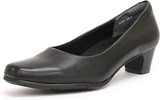 スポンサー広告 - [アクアレディ] 本革パンプス 4cmヒール 履きやすい 黒 A9050 レディース