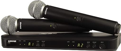 Shure Wireless Microphone System, Black (BLX288/SM58-H10)