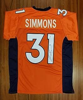 Justin Simmons Signed Autographed Jersey Denver Broncos Beckett