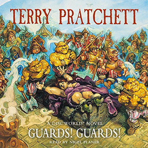 Guards! Guards!                   By:                                                                                                                                 Terry Pratchett                               Narrated by:                                                                                                                                 Nigel Planer                      Length: 10 hrs and 8 mins     284 ratings     Overall 4.8