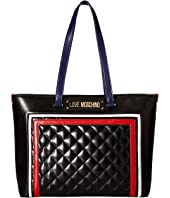 LOVE Moschino - Color Block Quilted Tote