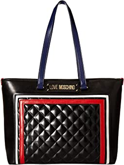 Color Block Quilted Tote