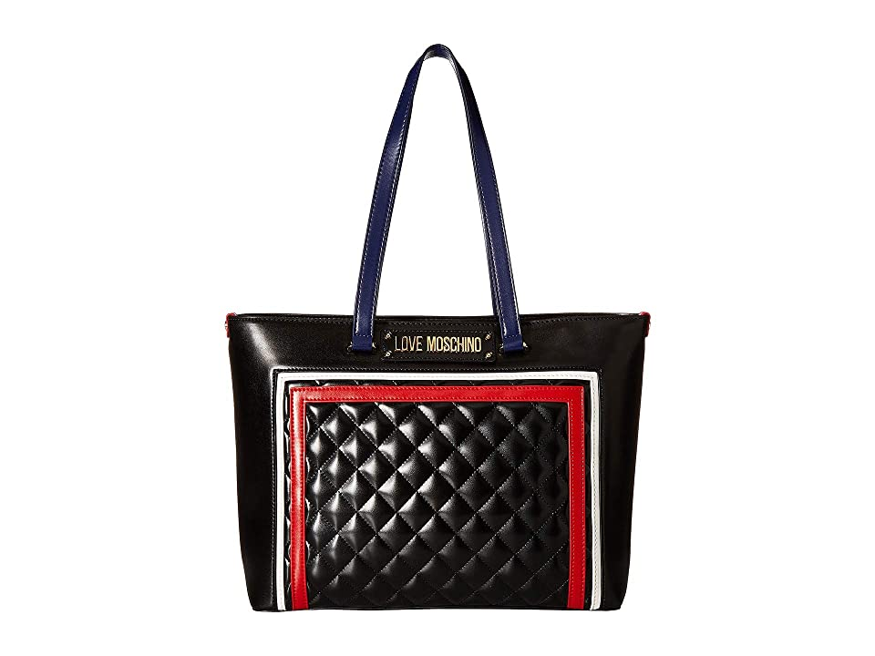 LOVE Moschino - LOVE Moschino Color Block Quilted Tote