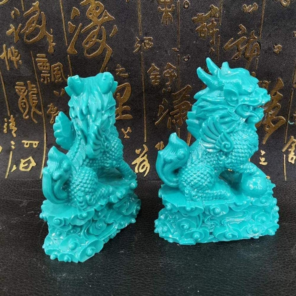 Statues Home Decoration Crafts A Pair Max 63% OFF of Qilin Feng Shipping included Chinese Shui