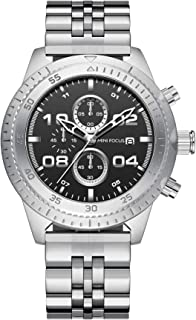 Mini Focus Mens Quartz Watch, Chronograph Display and Stainless Steel Strap - MF0230G.02