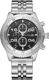 ساعة كوارتز بعرض كرونوغراف وسوار من الستانلس ستيل للرجال طراز MF0230G.02 من ميني فوكس