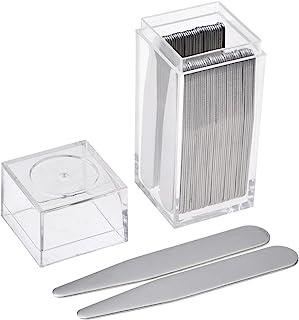JOVIVI 36pc فولاد ضد زنگ یقه در جعبه پلاستیکی پاک برای پیراهن پیراهن مرد، سفارش اندازه شما نیاز دارید