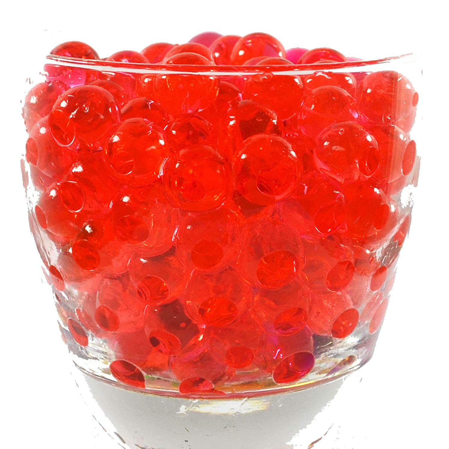 Water Pearls Gel Beads- Wedding & Event Centerpieces for Floral Arrangements - Cosmo Beads (Tm)-Makes 3 Gallons (4 Oz. Pack) (Red)