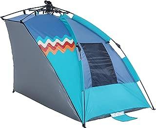ALPHA CAMP Beach Shade Portable Canopy Sun Shelter with Sandbag Anchors - 7.6' x 7.2'