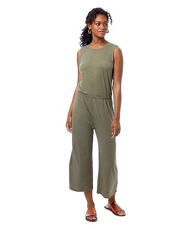Alternative Harper Sleeveless Cropped Jumpsuit (Eco True Army Green) Women