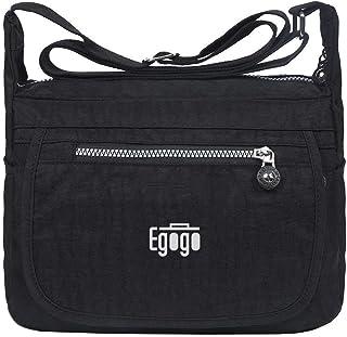 EGOGO Wasserdicht Nylon Damen Casual Umhängetasche Messengertasche Schultertasche Henkeltasche E303-6