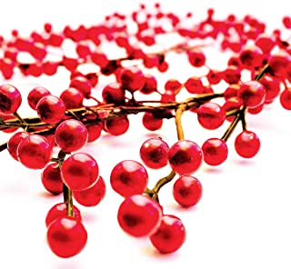 OLYPHAN Holiday Garland Red Berry Garlands Thanksgiving Table Decor, Christmas Fireplace Decoration Banister for Winter Ho...