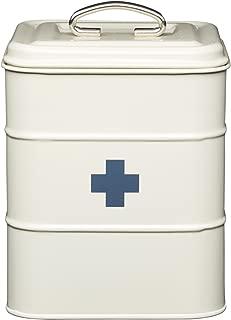 Kitchencraft Living Nostalgia Vintage-style Metal First Aid Box, Antique Cream,