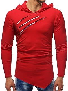 VESKRE Men's Pure Autumn Winter Color Camouflage Stitching Hoodie Long Sleeve Shirt Top Blouse