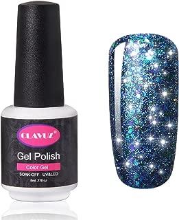 CLAVUZ Glitter Nail Polish Soak Off Starry Gel Nail Lacquer Manicure Nail Art Vanish