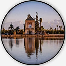 Hitecera Saadian Pavilion Pet Mat,Menara Gardens and Atlas in Marrakech for Dogs and Cats,5'Round