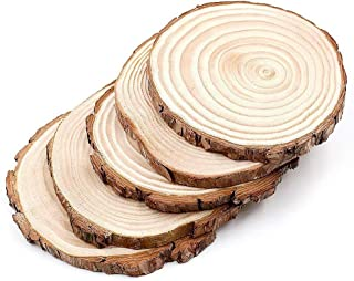 para exhibir soportes manualidades pintadas manualidades centros de mesa r/ústicos quemar madera bodas ToDIDAF 5 unidades de rodajas de madera r/ústica natural con aspecto vintage para bricolaje