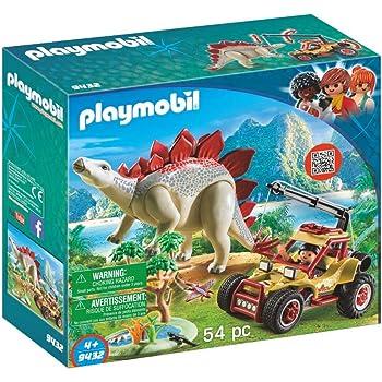 PLAYMOBIL Dinos 9432 Forschermobil mit Stegosaurus und Seilwinde, Ab 4 Jahren