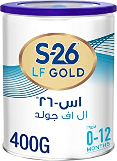 Wyeth Nutrition S26 Lactose-Free (LF) Gold, 0-12 Months, Infant Formula Milk Tin, 400g
