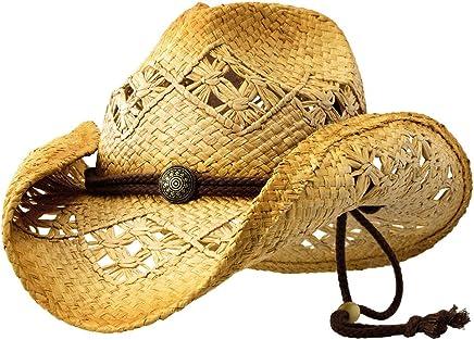 Deadwood Trading Sonoma Raffia Straw Cowboy Hat  4fad86f8abc6