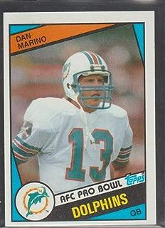 1984 Topps Dan Marino Dolphins Rookie Football Card #123