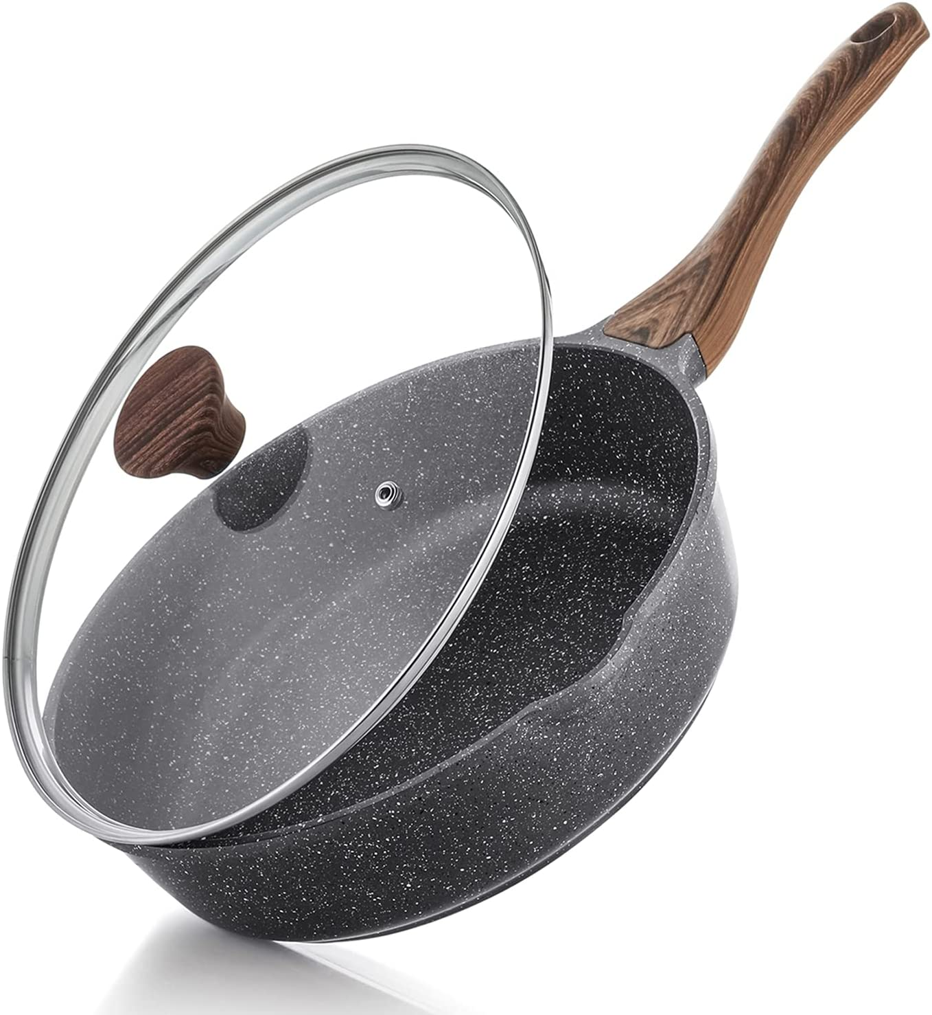 SENSARTE Nonstick Deep Frying Pan Saute Max 73% OFF Skillet Sale Special Price 11-inch wit
