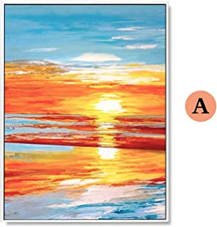 3D creative living room bedroom sofa background 100% Hand Painted Abstract Sunset Scenery Oil Painting On Canvas Wall Art ...